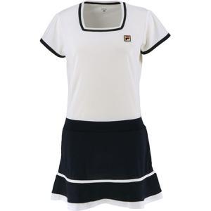 フィラ(FILA) レディース テニスウェア ワンピース ホワイト VL2234 01 スカート 練...