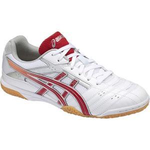 アシックス(asics) メンズ レディース 卓球シューズ アタック ハイパービート HYPERBEAT SP2 ホワイト/レッド TPA332 0123 部活 練習 試合 靴