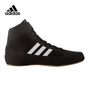 アディダス(adidas) キッズ レスリングシューズ hvck エイチブイシー コアブラック/ランニングホワイト/アイロンメット KDO03 AQ3327 ジュニア 子供用 男の子
