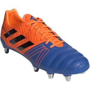 アディダス(adidas) メンズ ラグビー スパイク カカリエリート SG ブルー/コアブラック/ソーラーオレンジ 147 BTF40 F36071 スポーツシューズ 部活 靴|esports