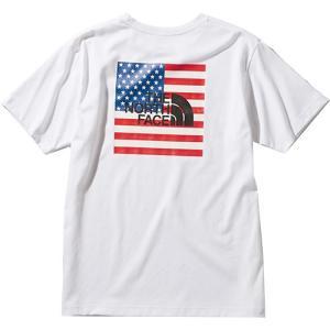 ノースフェイス(THE NORTH FACE) メンズ ショートスリーブ ナショナルフラッグティー S/S NATIONAL FLG T ホワイト NT32053 W 半袖 Tシャツ トップス|eSPORTS PayPayモール店