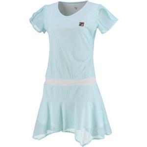 フィラ(FILA) レディース テニスウェア ワンピース サックス VL2129 10 スカート ゲ...