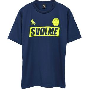 スボルメ(SVOLME) メンズ レディース サッカー フットサル ロゴ半袖プラTシャツ ネイビー ...
