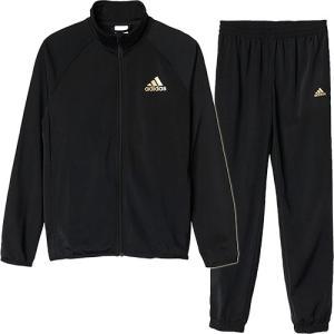 アディダス(adidas) BOYジャージ上下セット (ジョガーパンツ) ブラック/マットゴールド AAW94 BR1082 キッズ ジュニア トレーニングウェア スポーツウェア|esports
