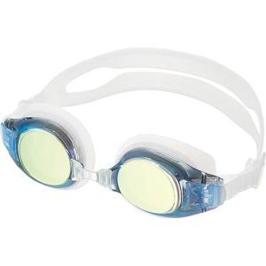 エーキューエー(AQA) ウォーターランナーキッズミラー3 子供用ゴーグル KM1621 イエローミラー スイムゴーグル 水泳用ゴーグル プール スイミング|esports