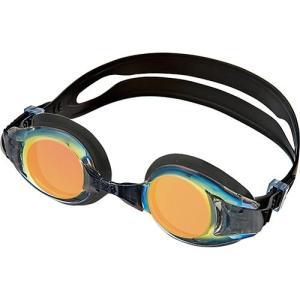 エーキューエー(AQA) ウォーターランナーキッズミラー3 子供用ゴーグル KM1621 レッドミラー スイムゴーグル 水泳用ゴーグル プール スイミング|esports