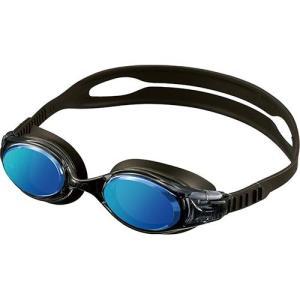 エーキューエー(AQA) ウォーターランナースマートクリックミラー3 ゴーグル KM1624 ブルーミラー スイムゴーグル 水泳用ゴーグル|esports
