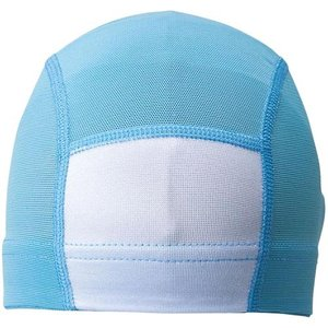 エーキューエー(AQA) メッシュネームキャップ S KP1936 サックス スイムキャップ 水泳帽|esports