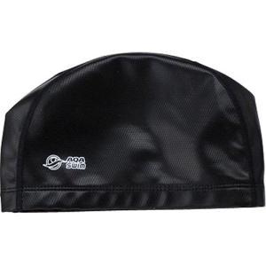 エーキューエー(AQA) シリテックススイムキャップ KP1938 0100 ブラック フリーサイズ 水泳帽|esports