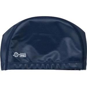 エーキューエー(AQA) シリテックススイムキャップ KP1938 2500 ネイビー フリーサイズ 水泳帽|esports