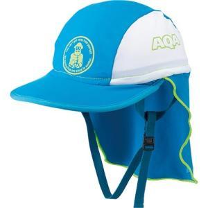 エーキューエー(AQA) フラップキャップ キッズ KW4468A BU/WT 子供用 スイムキャップ 水泳帽|esports