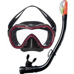 エーキューエー(AQA) オルカソフト&サミードライSPシリコン2点セット KZ9001 BK/Cワインレッド スイムゴーグル 水泳用ゴーグル スノーケリング|esports