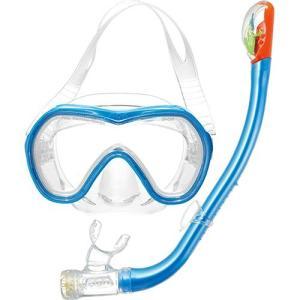エーキューエー(AQA) オルカソフト&サミードライSPシリコン2点セット KZ9001 Mライトブルー/Cブルー スイムゴーグル 水泳用ゴーグル スノーケリング|esports