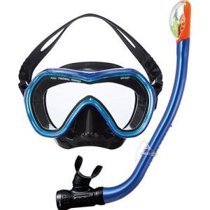エーキューエー(AQA) オルカソフト&サミードライSPシリコン2点セット KZ9001 メタリックネイビー/Cサックス スイムゴーグル 水泳用ゴーグル スノーケリング|esports