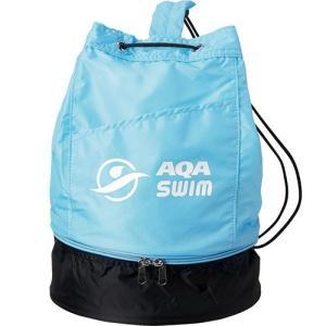 エーキューエー(AQA) ジュニアプールバッグ KP1924 ライトブルー スイムバッグ スイムアクセサリー 水泳・スイミング|esports