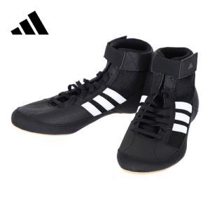 アディダス(adidas) レスリングシューズ HVC WRESTLING SHOES コアブラック/ランニングホワイト/アイロンメット KDO02 AQ3325 レスリング ボクシング シューズ|esports