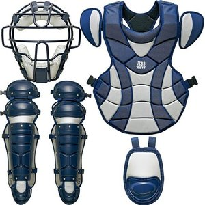 ゼット(ZETT) 軟式キャッチャー防具 4点セット (2913)ネイビー/シルバー BL316A 野球 軟式 キャッチャー 防具 esports