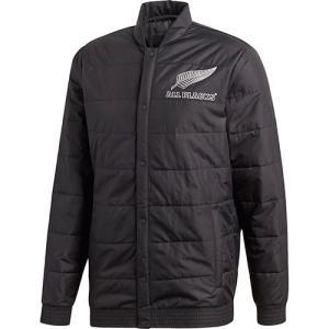 アディダス(adidas) メンズ ラグビー オールブラックス サポータージャケット ブラック EKW39 CW3119 トレーニングウェア ジャージ パデッドジャケット