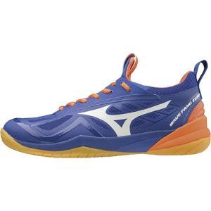 ミズノ(MIZUNO) メンズ レディース バドミントンシューズ ウエーブファング ZERO ブルー×ホワイト×オレンジ 71GA1990 00 バドミントン シューズ 靴 部活|esports