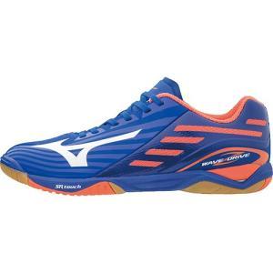 ミズノ(MIZUNO) メンズ レディース 卓球シューズ ウエーブドライブ Z ブルー/ホワイト/オレンジ 81GA160000 部活 練習 試合 靴