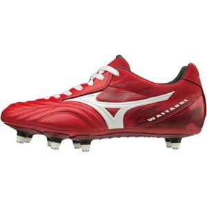 ミズノ(MIZUNO) メンズ ラグビーシューズ ワイタンギPS レッド×ホワイト R1GA1900 01 スパイク フォワード向け 靴 部活|esports