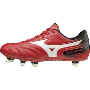ミズノ(MIZUNO) メンズ レディース ラグビーシューズ ワイタンギ II CL レッド×ホワイト R1GA2001 01 ラグビー シューズ スパイク 靴