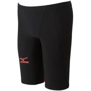 ミズノ(MIZUNO) MXハーフスパッツ MX-SONIC02 ブラック×レッド N2MB601171 男性用競泳水着 メンズ 競技用|esports