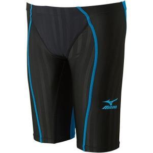 ミズノ(MIZUNO) FXハーフスパッツ ブラック×ターコイズ N2MB703091 男性用競泳水着 メンズ 競技用|esports