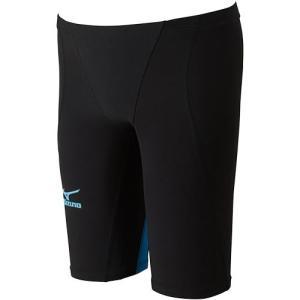 ミズノ(MIZUNO) MX-SONIC 02 ハーフスパッツ(ジュニア用) ブラック×ターコイズ N2MB641170 男子用競泳水着 競技用|esports