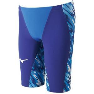 ミズノ(MIZUNO) メンズ GX・SONIC III MR ハーフスパッツ ブルー N2MB600227 男性用競泳水着 メンズ 競技用|esports