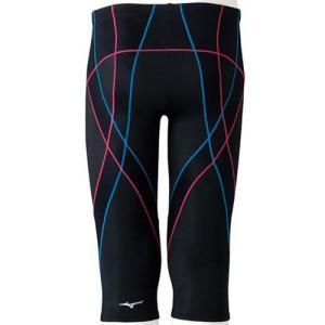ミズノ(MIZUNO) メンズ BGアクア スパッツ(6分丈) ブラック×ライトブルー N2JB465092 メンズフィットネス水着 男性用|esports