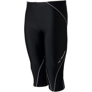 ミズノ(MIZUNO) BGアクア メンズスイムスパッツ(6分丈) ブラック×グレー N2JB612291 メンズフィットネス水着 男性用 水中ウォーキング コンプレッション|esports