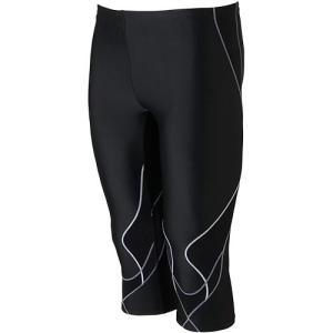 ミズノ(MIZUNO) BGアクアライト2 メンズスパッツ(6分丈) ブラック×グレー N2JB765091 メンズフィットネス水着 男性用 水中ウォーキング|esports