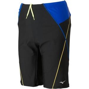 ミズノ(MIZUNO) ルーズスパッツL ブラック×ブルー N2JB769392 メンズフィットネス水着 男性用 大きいサイズ|esports