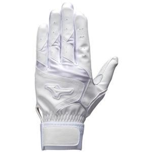 ミズノ(MIZUNO) バッティング手袋 両手用 高校野球対応 洗える天然皮革 1EJEH13310 野球 ソフトボール バッティンググローブ グラブ esports