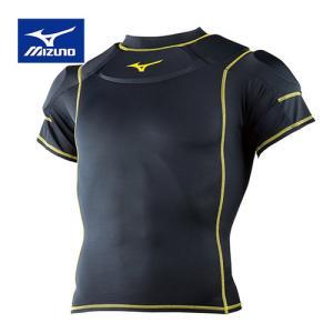 ミズノ(MIZUNO) メンズ レディース ラグビーショルダーガード ブラック R2MH8001 09 スポーツウェア 肩 保護