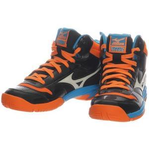 ミズノ(MIZUNO) ジュニア バスケットシューズ ルーキー BB4 ブラック ×ホワイト×オレンジ W1GC177009 バッシュ ミニバス 男の子 女の子 バスケットボール|esports