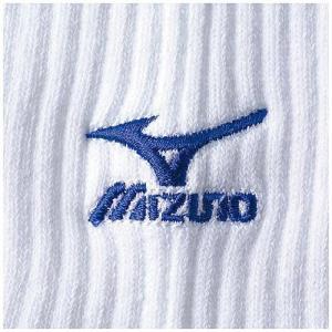 ミズノ(MIZUNO) ソックス 59UF70522 ホワイト×R.ブルー 23〜25cm バレー 靴下 レギンス アクセサリー|esports