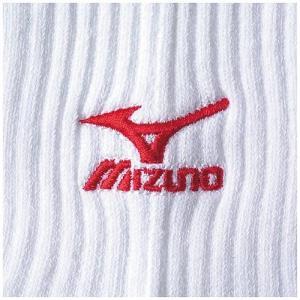 ミズノ(MIZUNO) ソックス 59UF70562 ホワイト×レッド 23〜25cm バレー 靴下 レギンス アクセサリー|esports