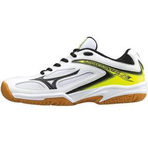 ミズノ(MIZUNO) ライトニングスター Z3 Jr ホワイト×ブラック×イエロー V1GD170309 バレーボール シューズ トレーニング ジュニア|esports