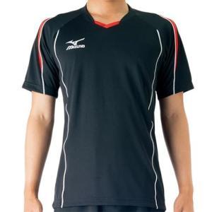 ミズノ(MIZUNO) プラクティスシャツ Jr. ブラック×レッド V2MA608796 バレーボール トレーニングウェア ジュニア プラシャツ|esports