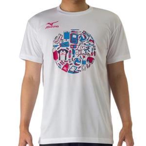ミズノ(MIZUNO) プラクティスシャツ ホワイト V2MA708601 バレーボール トレーニングウェア プラシャツ|esports