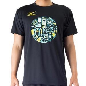 ミズノ(MIZUNO) プラクティスシャツ ブラック V2MA708609 バレーボール トレーニングウェア プラシャツ|esports