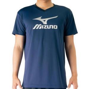 ミズノ(MIZUNO) プラクティスシャツ ドレスネイビー×シルバー V2MA708780 バレーボール トレーニングウェア プラシャツ|esports