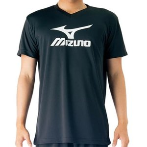 ミズノ(MIZUNO) プラクティスシャツ Jr. ブラック×ホワイト V2MA708790 バレーボール トレーニングウェア ジュニア プラシャツ|esports