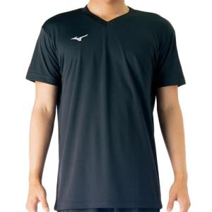 ミズノ(MIZUNO) プラクティスシャツ ブラック V2MA708809 バレーボール トレーニングウェア プラシャツ|esports