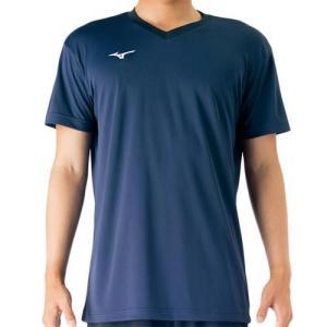 ミズノ(MIZUNO) プラクティスシャツ ドレスネイビー V2MA708814 バレーボール トレーニングウェア プラシャツ|esports