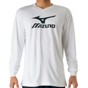 ミズノ(MIZUNO) プラクティスシャツ Jr. ベイパーシルバー V2MA709770 バレーボール トレーニングウェア ジュニア プラシャツ 長袖|esports