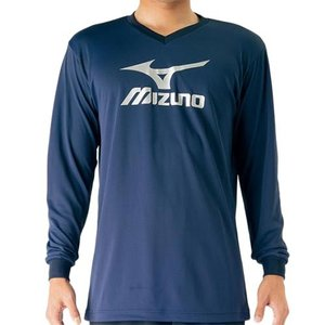 ミズノ(MIZUNO) プラクティスシャツ マザランブルー V2MA709780 バレーボール トレーニングウェア プラシャツ 長袖|esports