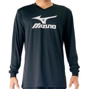 ミズノ(MIZUNO) プラクティスシャツ Jr. ドレスネイビー×アトミックブルー V2MA709790 バレーボール トレーニングウェア ジュニア プラシャツ 長袖|esports
